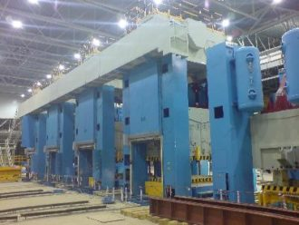 Finishing stage of Press line FAGOR assembling (total weight 4000 tons)