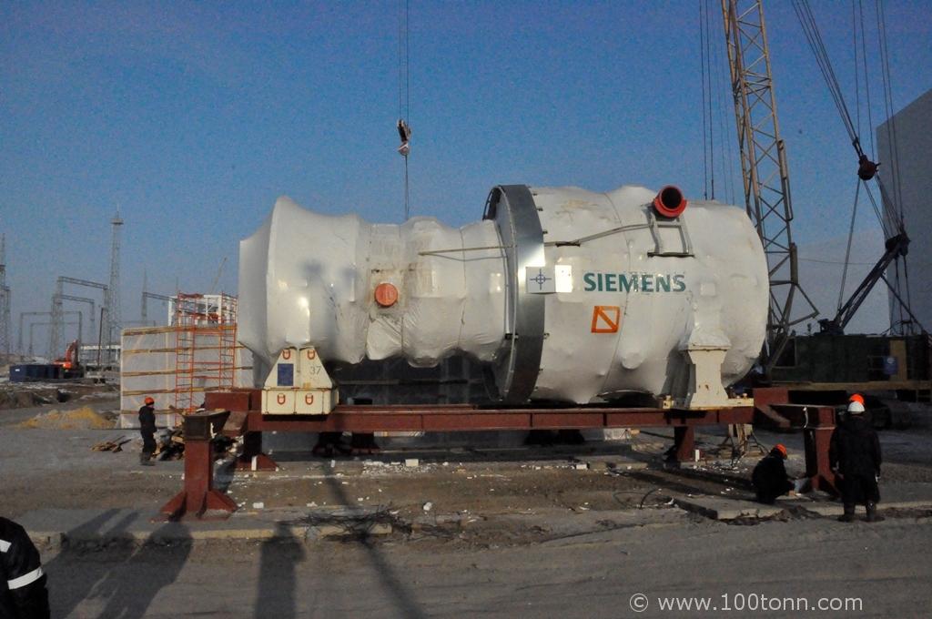 Mounting of Siemens gas turbine, steam turbine and generator