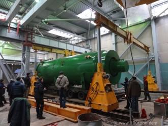 Разгрузка и установка на фундамент оборудования SCHOLZ, г. Кумертау