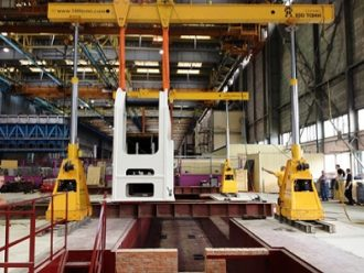 Press base frame mounting at Aviastar-SP, CJSC