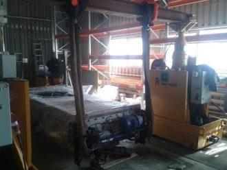 Press LEMA HPL-500 unloaded and set to final position in Sverdlovskaya region