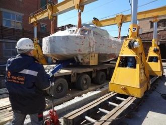 Press SACMI loaded, transported, turned over and installed in Yekaterinburg