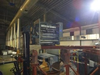 Printing machine unit installed in a hard-to-reach place in Yekaterinburg
