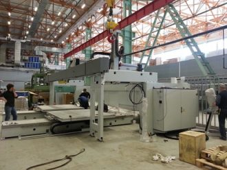 C.M.S. S.p.A machining centre mounted