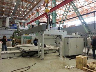 Монтаж обрабатывающего центра производства C.M.S. S.p.A.