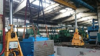 Vacuum die casting machines S-V-1300 shifted into a workshop and mounted in Cheboksary