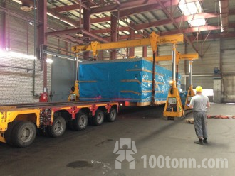 Components of Pietro Carnaghi machine unloaded in Balakovo