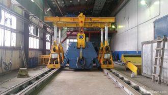 HAEUSLER bending machine dismantled and loaded