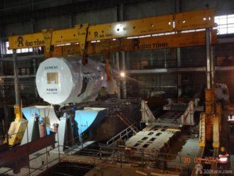 Перевозка и установка на фундамент 2-х комплектов ГТУ на территории ПГРЭС