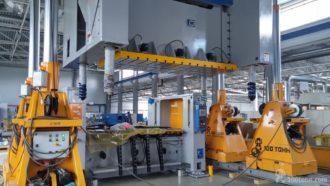 Монтаж комплекса для точной вырубки на базе механического пресса SIMPAC