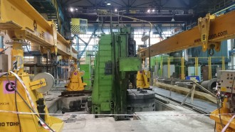 Turning-and-boring machine dismantled, shifted and installed in Nizhny Tagil