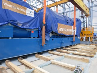 Gas-generator plants WÀRTSILÀ installed on vibration mounts