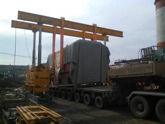 Перевозка и выгрузка энергетического оборудования на Верхнетагильской ГРЭС