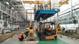 Kautex blow machine dismantled and loaded in Samarskaya Oblast