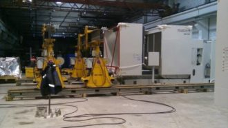 Machining centres set to final position