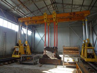 Погрузка, перевозка, выгрузка и установка в проектное положение шабота молота в п. Большой Исток Свердловской области