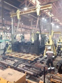 80-tonne sheet-straightening machine СКМЗ 7х2800 dismantled and relocated in Tikhvin, Leningradskaya Oblast