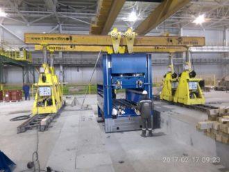 HEINRICH GEORG TRM120/15/11-6h-3200 Straightening Machine installed in Sverdlovskaya Oblast