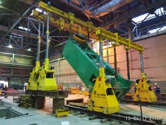 Выполнены такелажные работы на Уральском трубном заводе