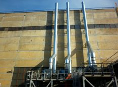 Установка вентиляционного оборудования, труб закалочного комплекса
