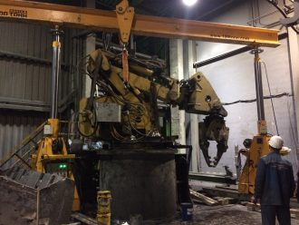 Manipulator dismantled and assembled at Tikhvin Freight Car Building Plant
