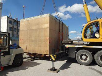 Погрузка станка VL-160CM на телегу 40 тонн