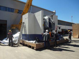 Перемещение и такелаж металлообрабатывающего станка VL-160CM