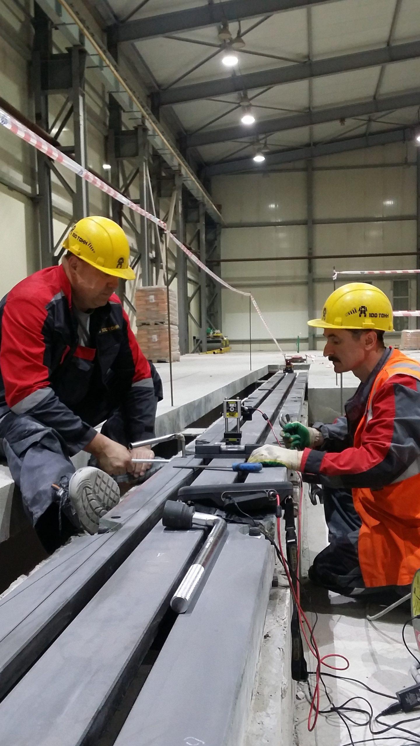 Услуги по выверке производственного оборудования
