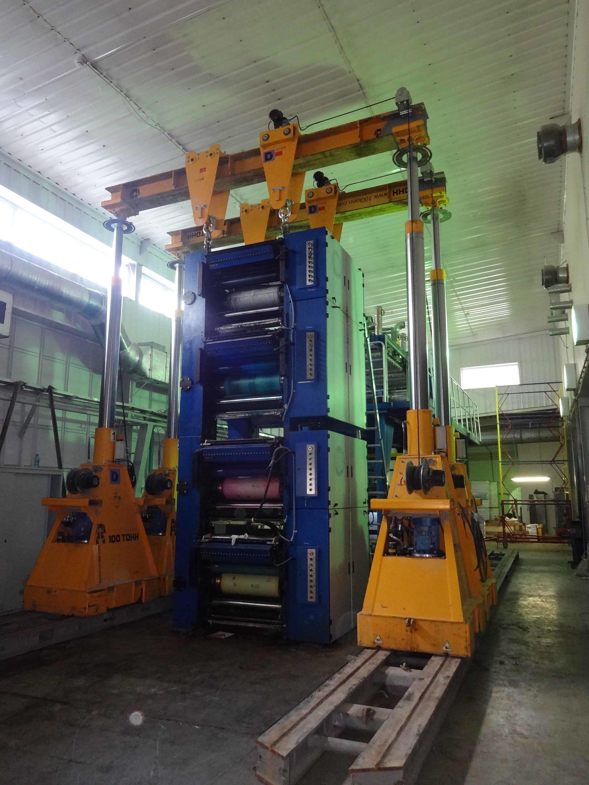 Демонтаж рулонной печатной машины GLOBAL WEB SYSTEM в Москве