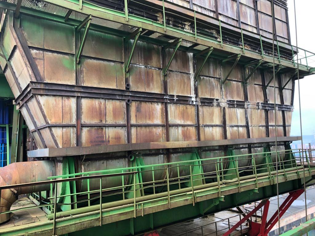 Демонтаж и монтаж внутренних устройств скруббера-промывателя