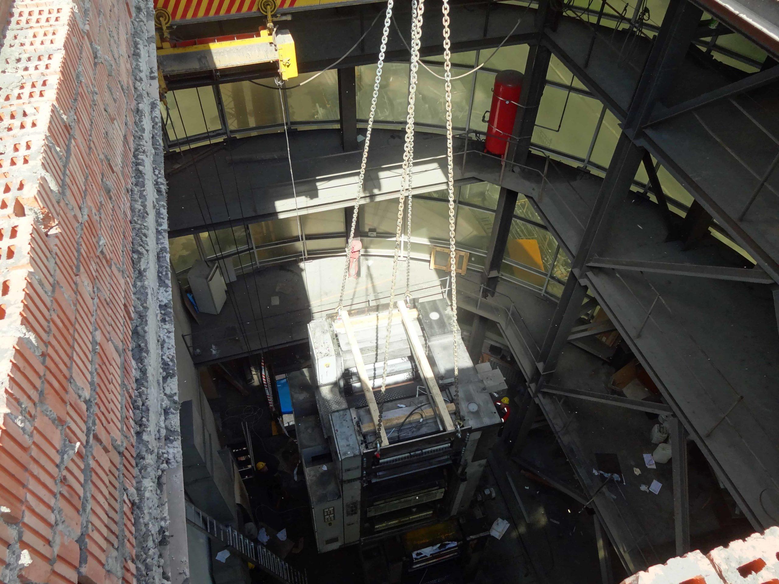 Демонтаж печатной машины MANROLAND UNISET 70 в Москве