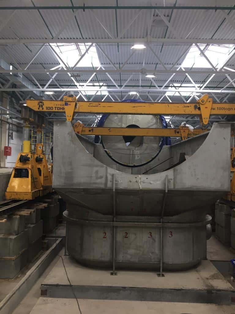 Для монтажа гидроразбивателя Andritz применены нестандартные инженерные решения