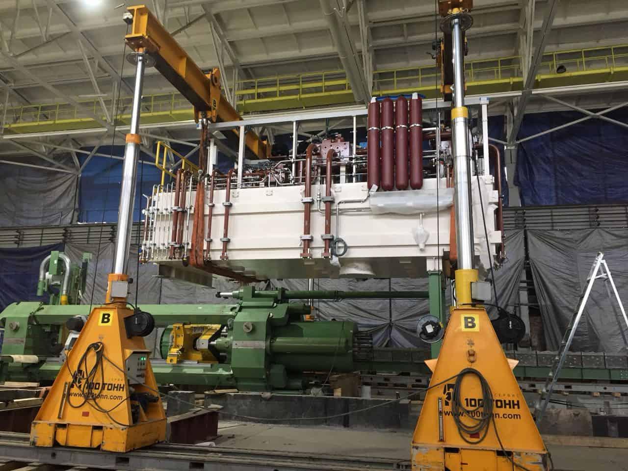 Монтаж маслостанции экструзионного пресса 35МН SMS MEER в Свердловской области