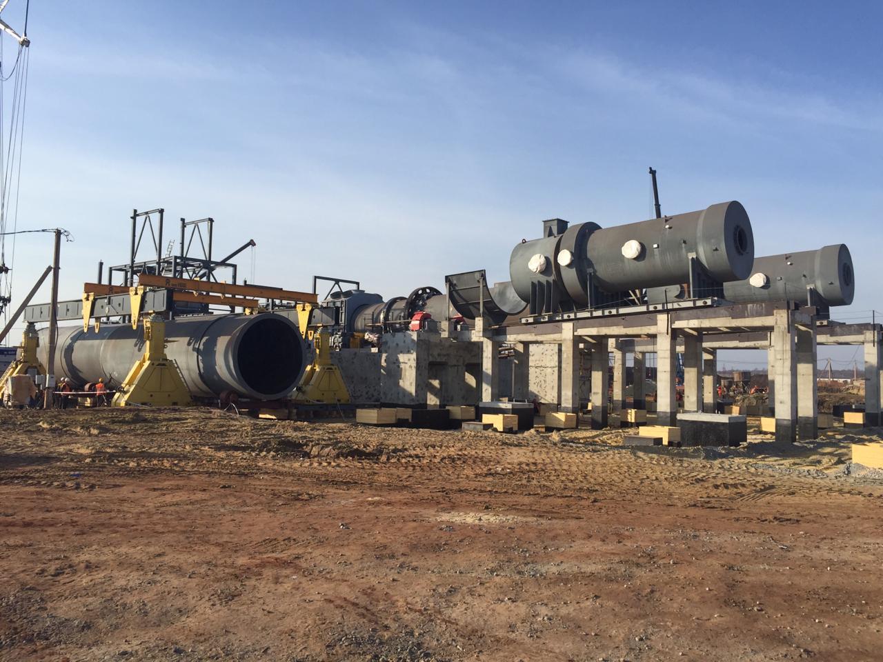 Монтаж оборудования для сушки руды
