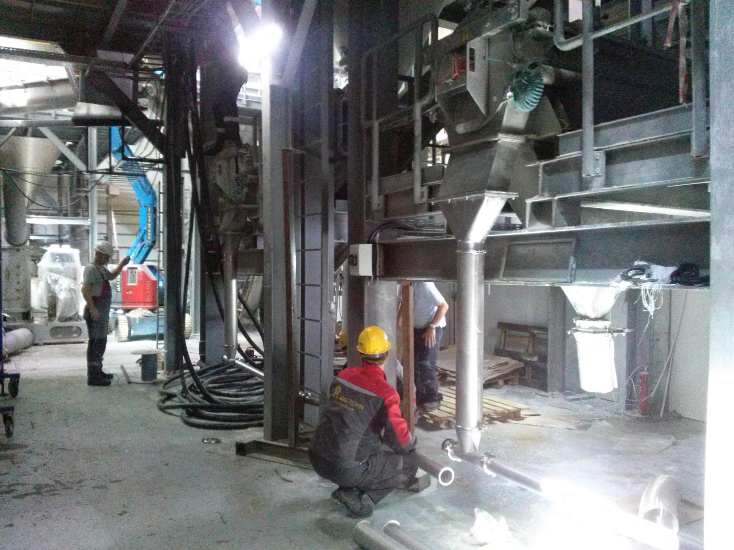 Монтаж трубопроводов пневмотранспорта