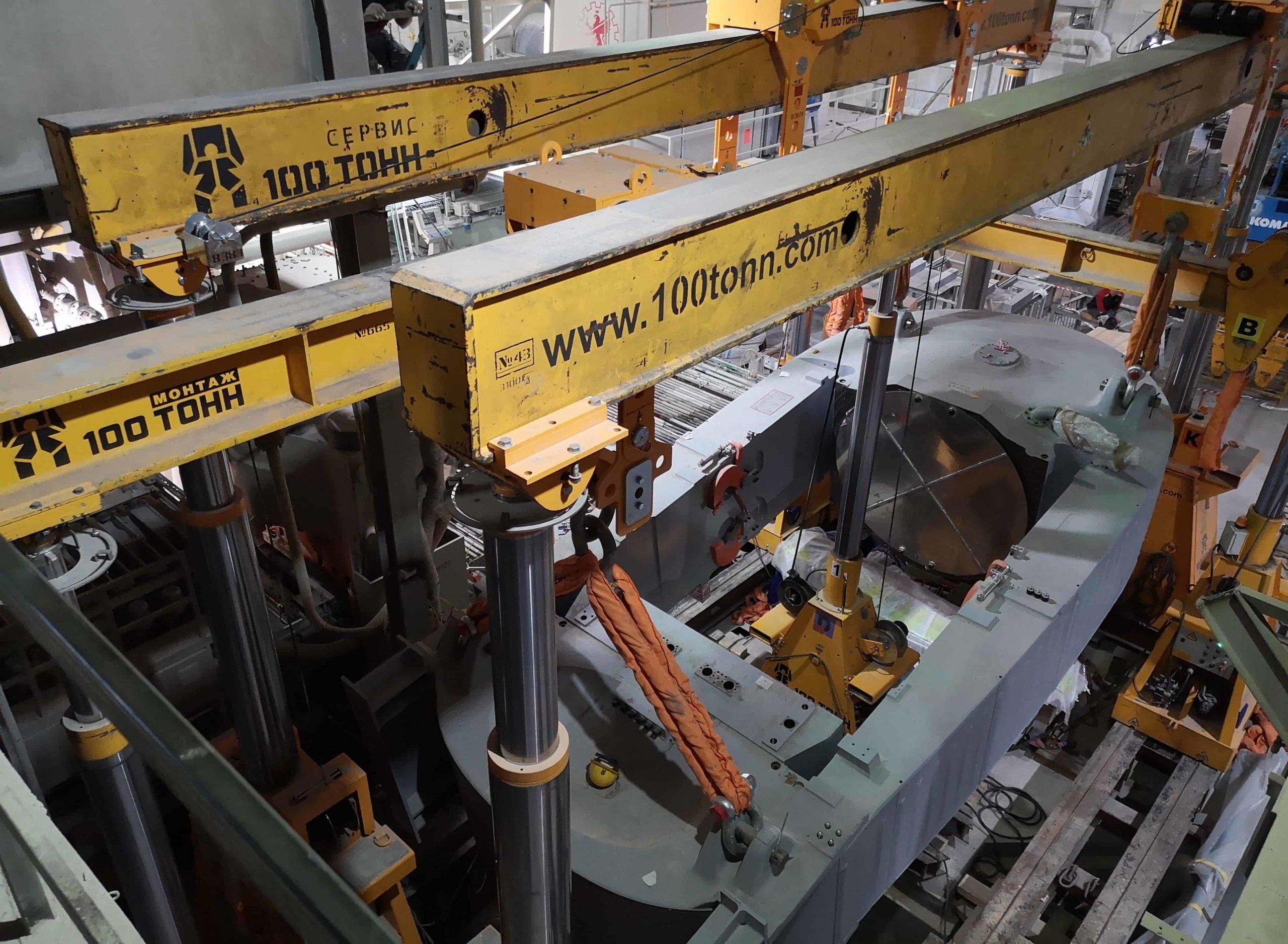 Монтаж оборудования в цехе Самарский Стройфарфор