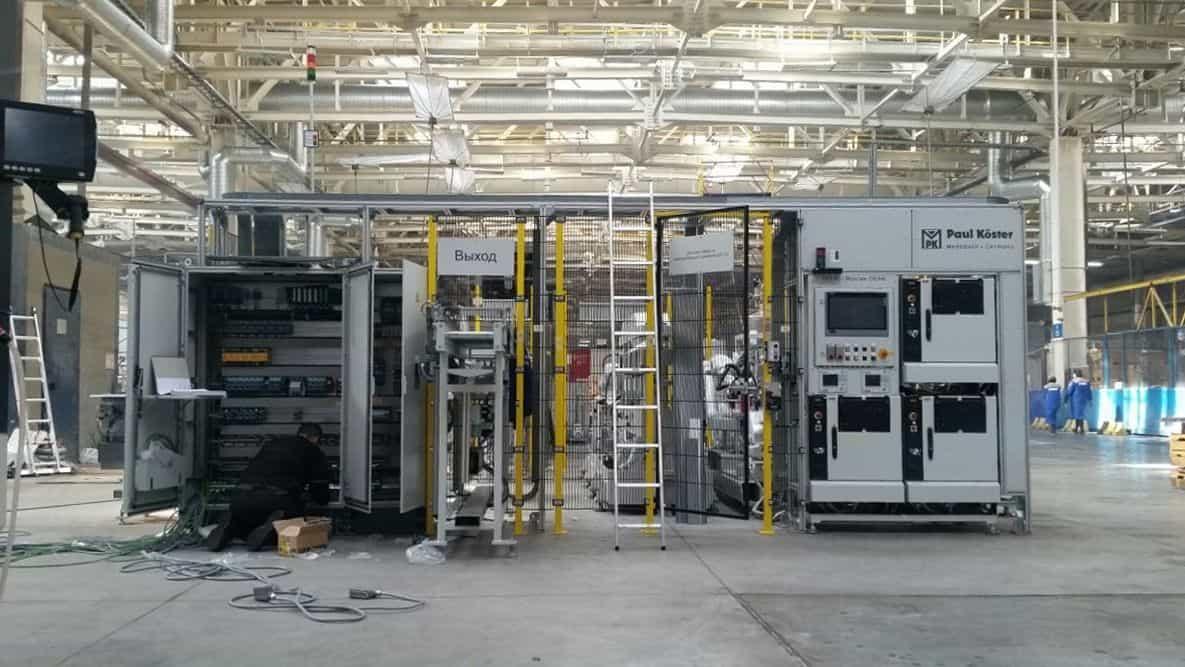 Монтаж автоматизированной линии на заводе «КАМАЗ» в Татарстане
