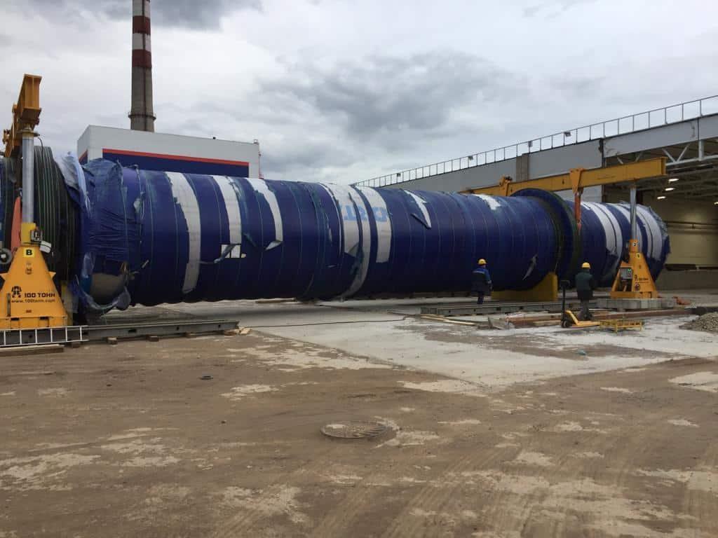 Монтаж барабанного гидроразбивателя Andritz FF-400EE