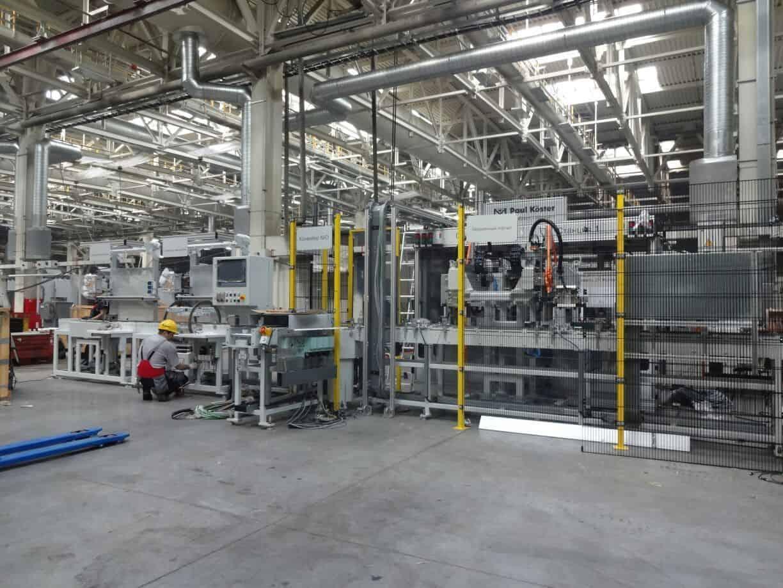 Монтаж оборудования автоматизированной линии Paul Köster на заводе «КАМАЗ» в Татарстане