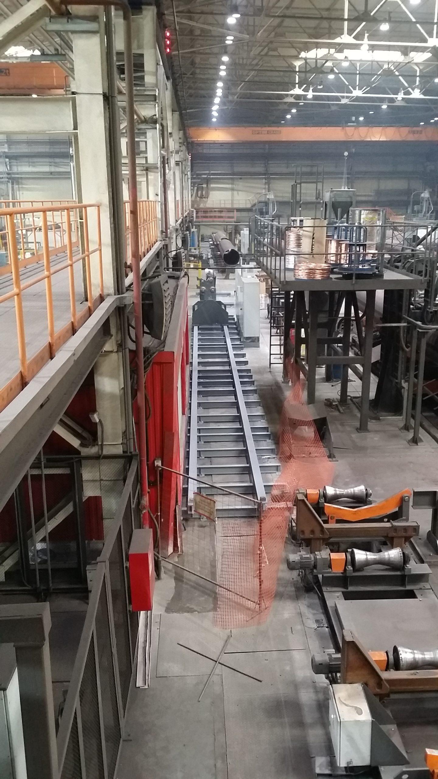 Монтаж площадок тяжелого ремонта на трубном заводе