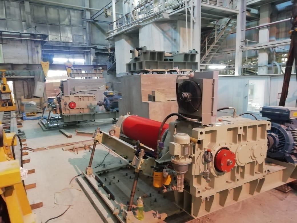 Монтаж приводной станции мельницы SACMI MMC 120
