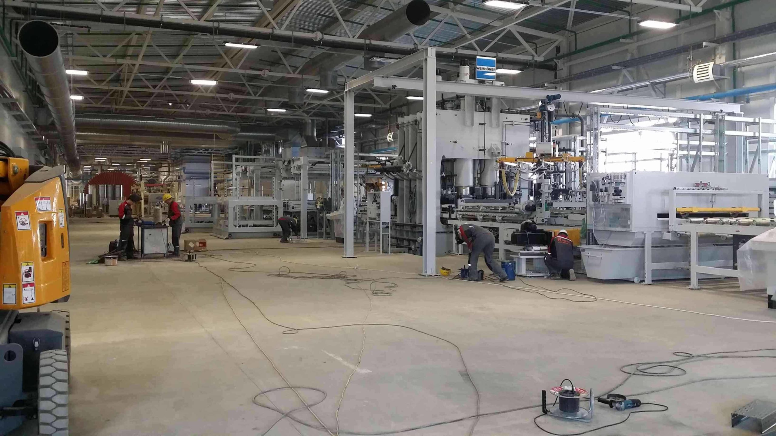 Монтаж промышленного оборудования под ключ
