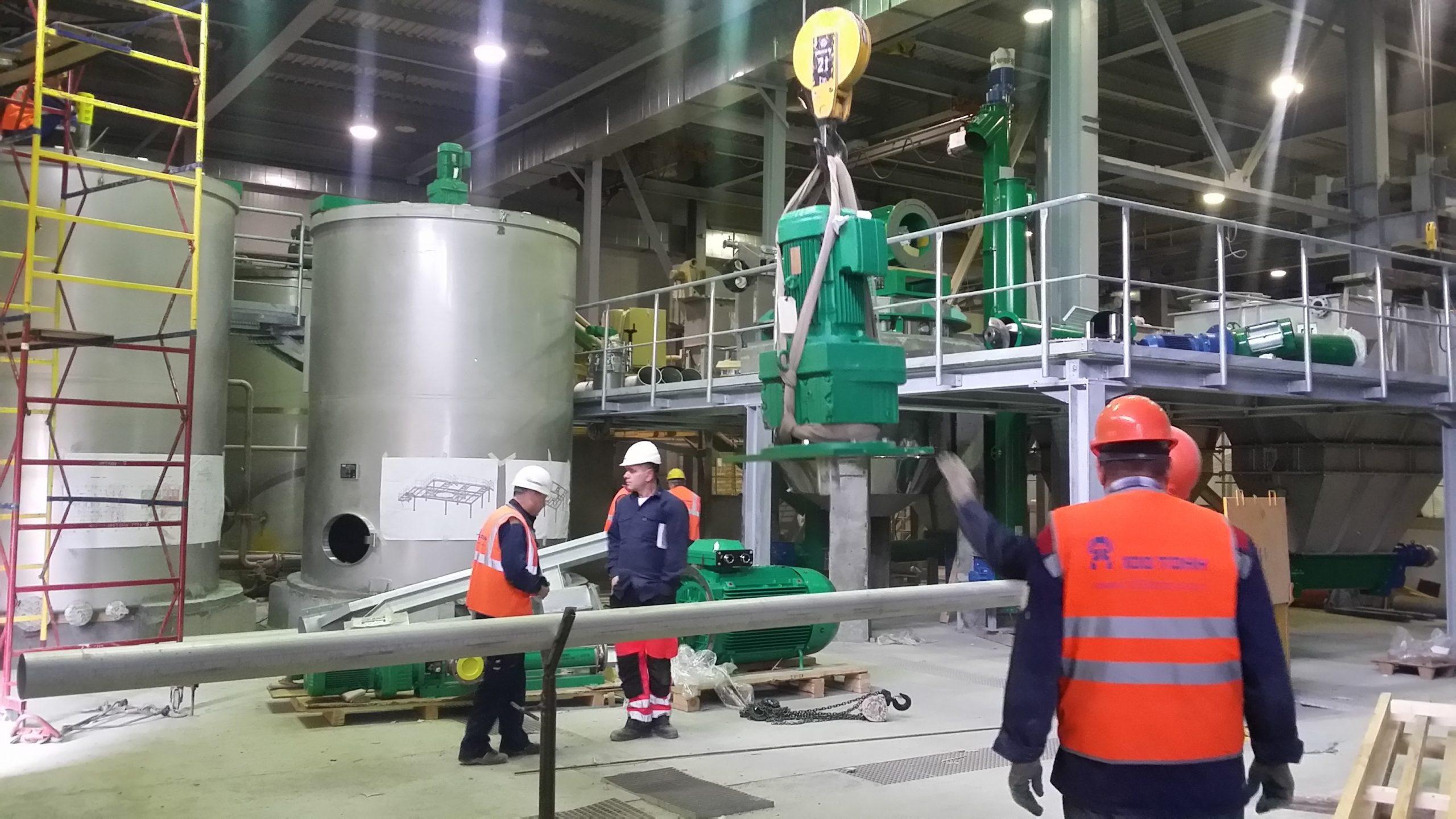 Монтаж технологических трубопроводов в ЦБП