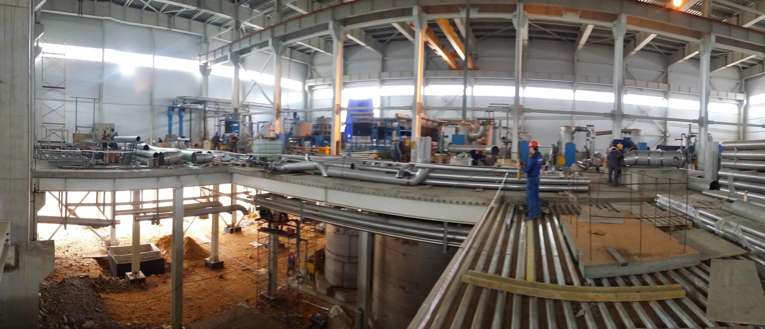 Монтаж технологического оборудования в условиях минимальной строительной готовности