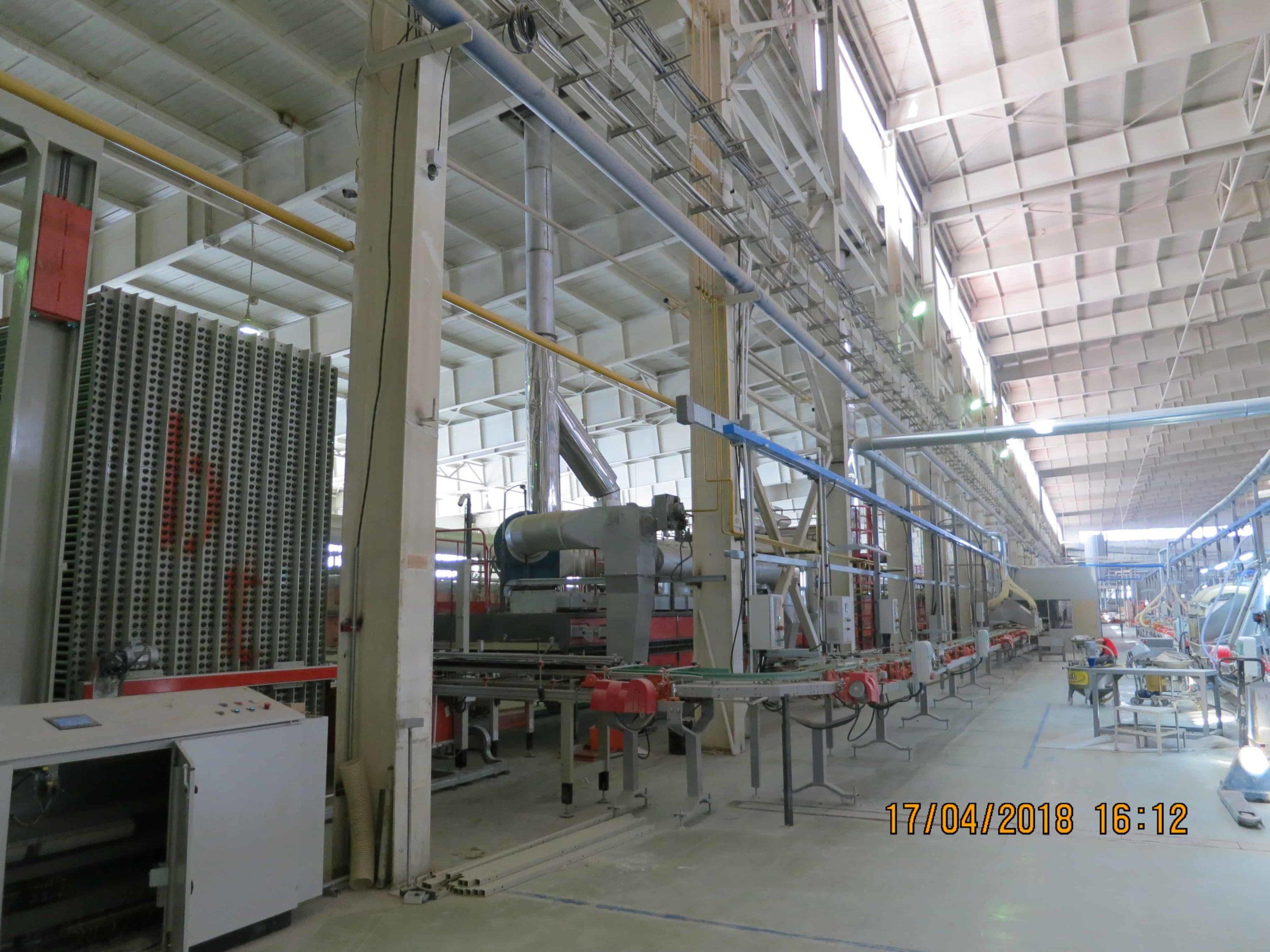 Монтаж технологической линии SITI по производству керамической плитки малых форматов