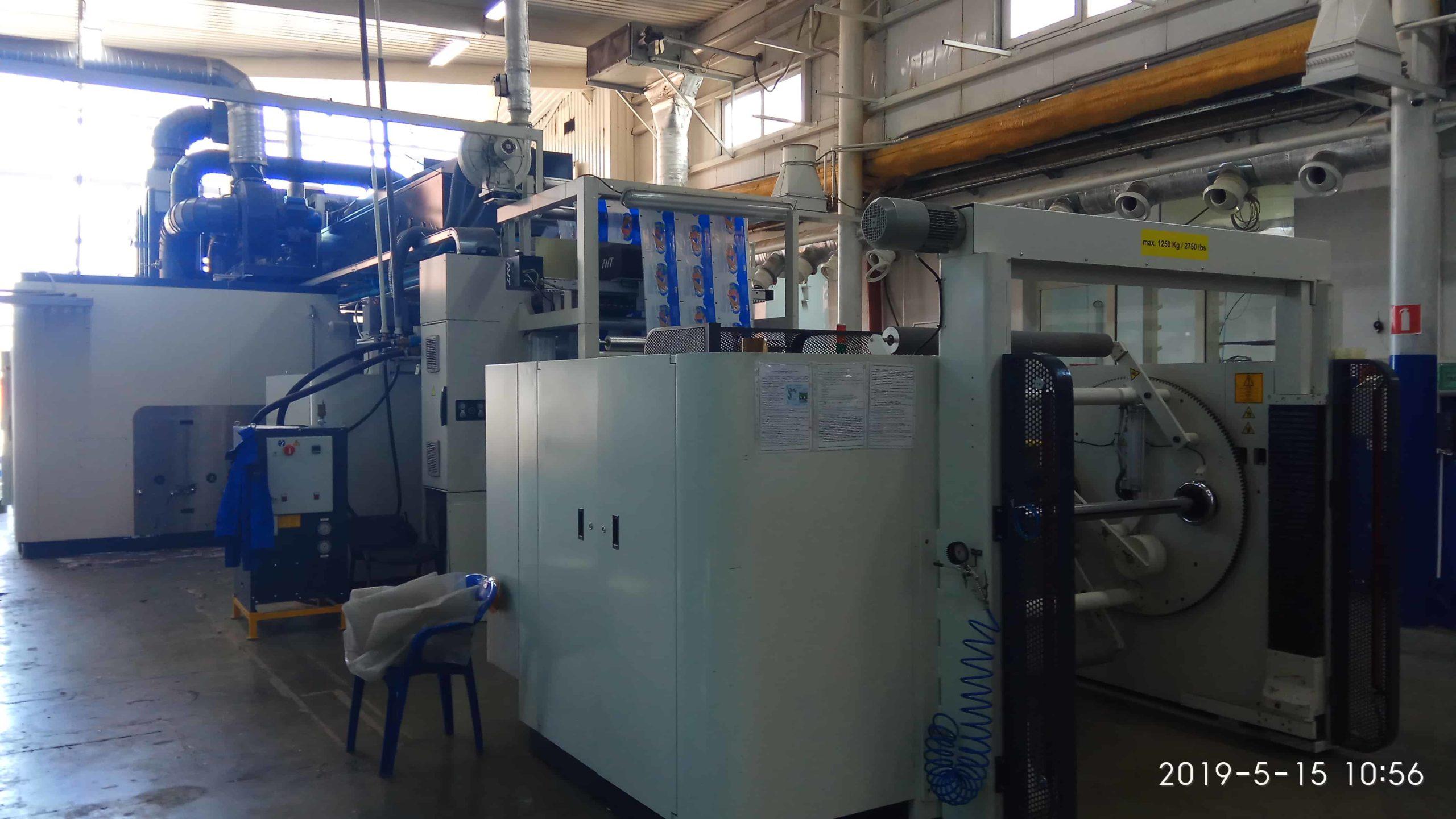 Промышленный демонтаж флексографической машины COMEXI 1300 F2 MP