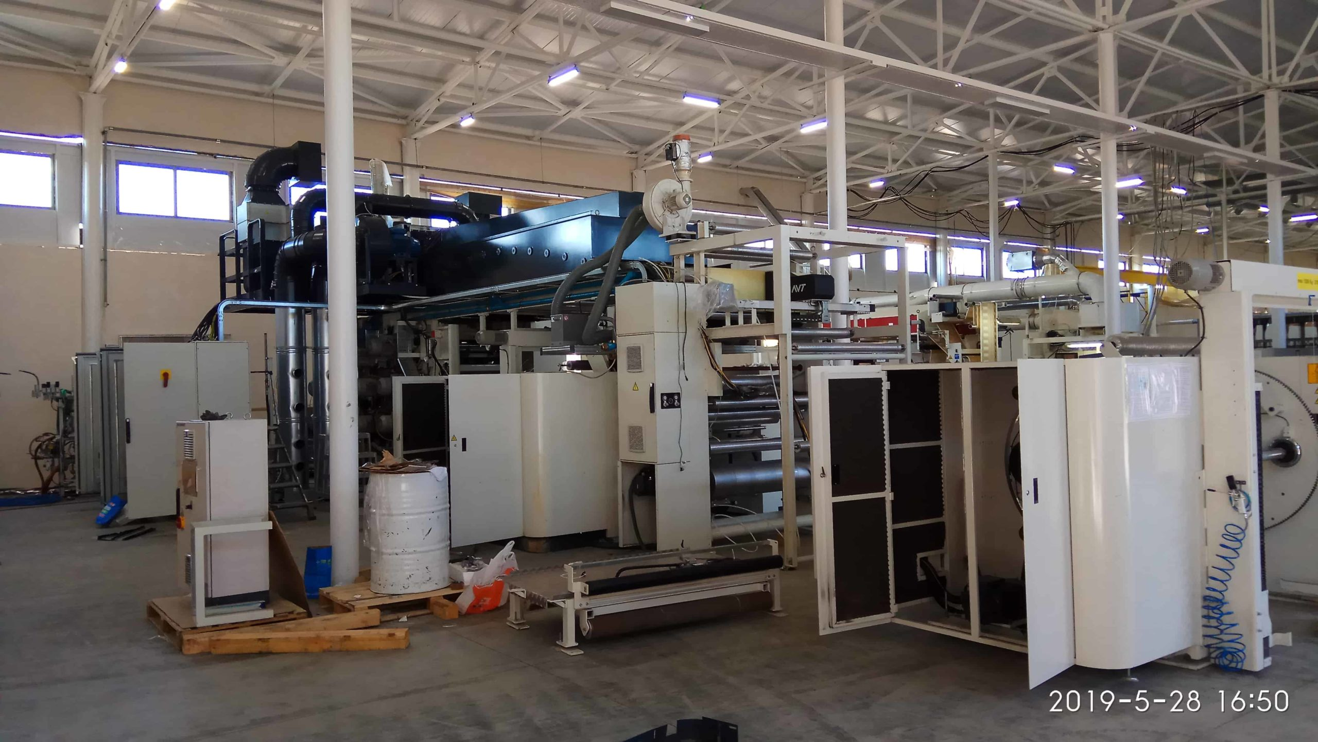 Промышленный монтаж флексографической машины COMEXI 1300 F2 MP