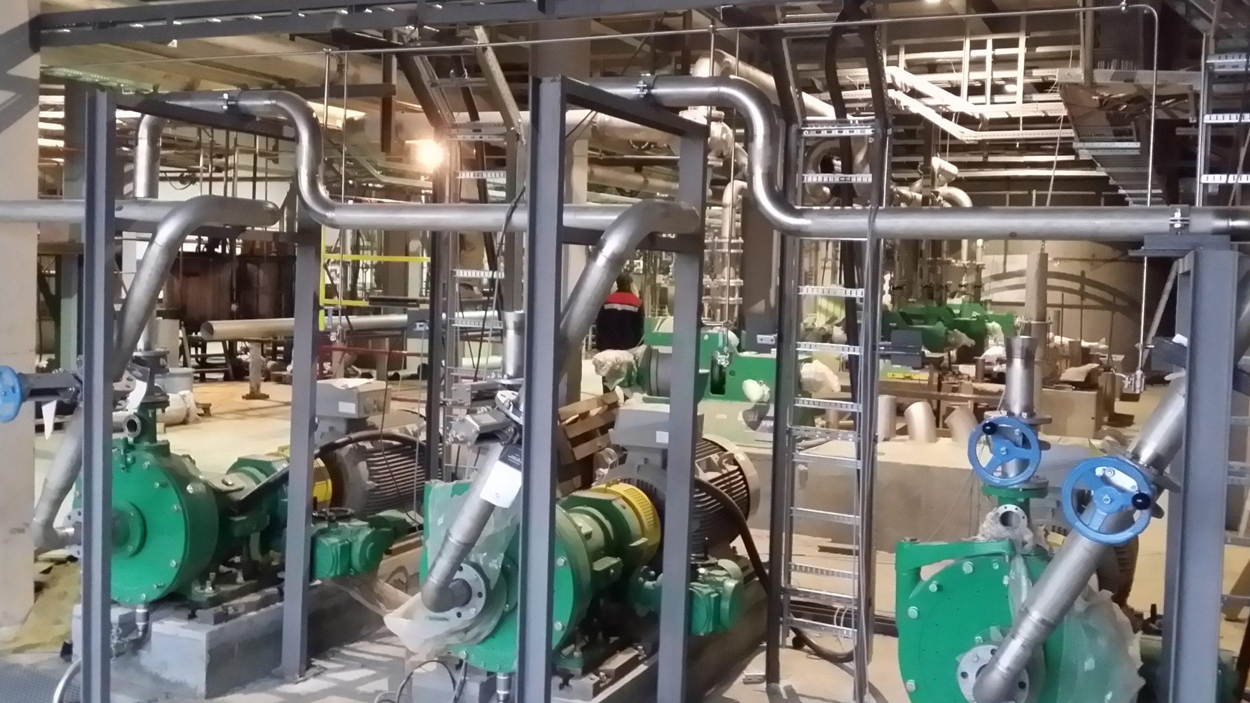 Смонтированные трубопроводы БДМ