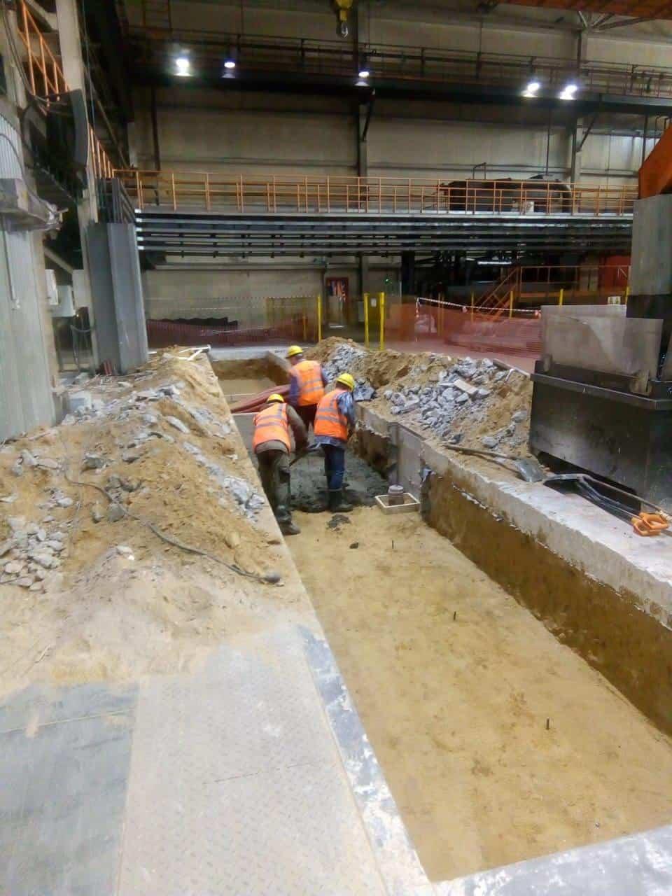 Строительные работы перед монтажом промышленного оборудования