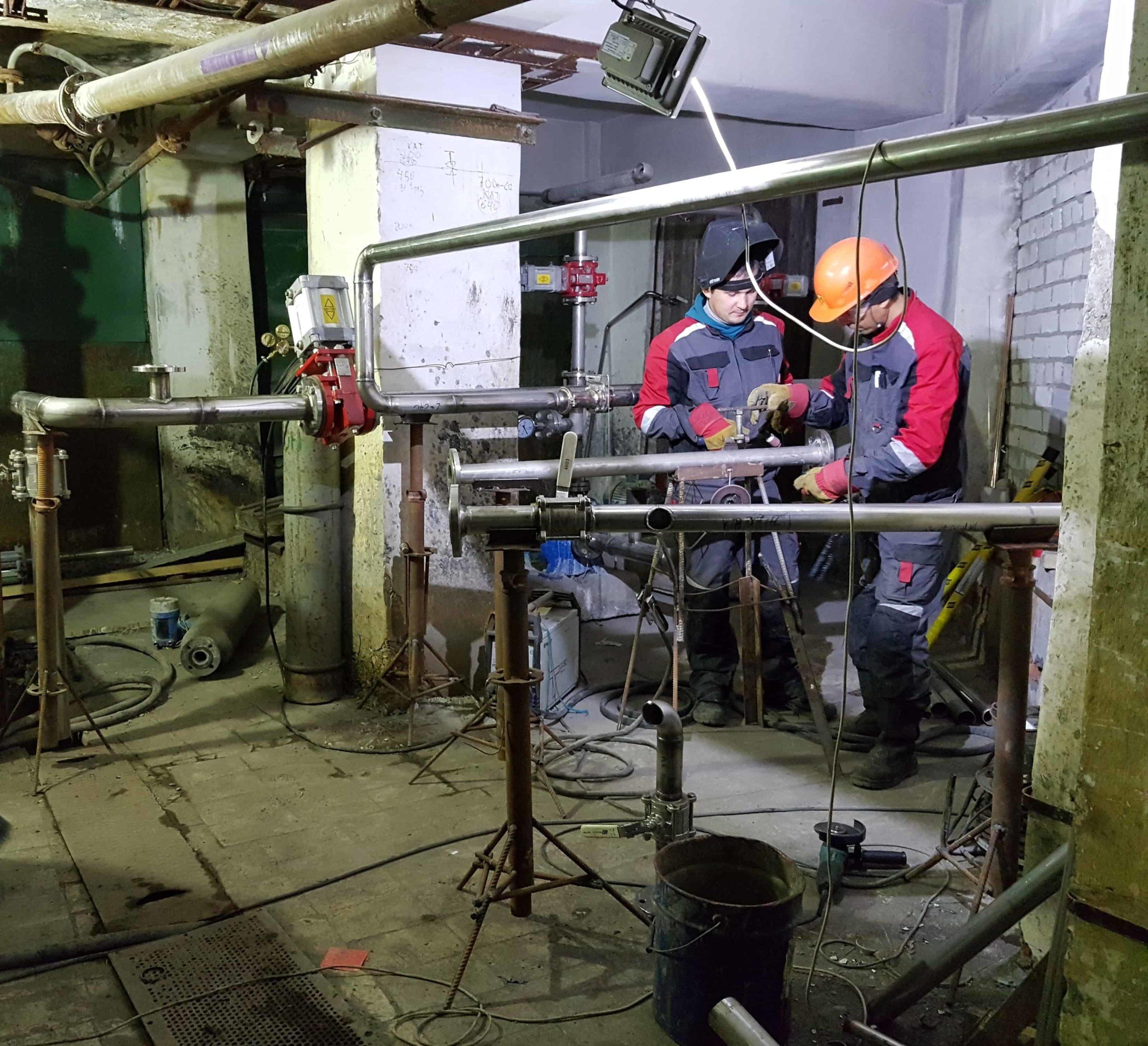 Сварка трубопроводов в ЦРКИ-3 АЦБК